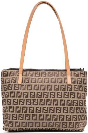 Fendi Women Handbags - 1990s Zucchino pattern tote bag