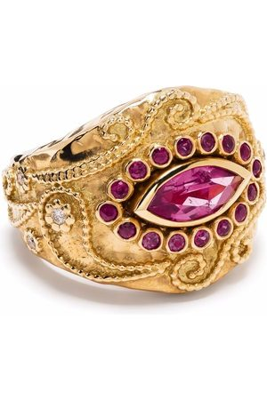 Aurélie Bidermann Women Rings - 18kt yellow Cashmere rubellite, ruby and diamond ring