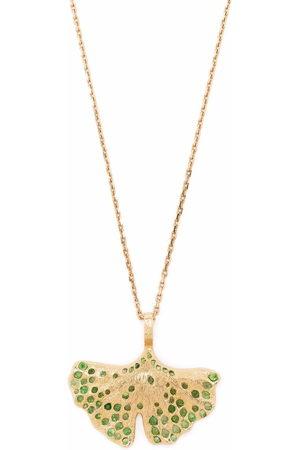 Aurélie Bidermann Women Necklaces - 18kt yellow Gingko tsavorite necklace