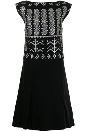 LOUIS VUITTON Pre-owned embellished boat-neck dress