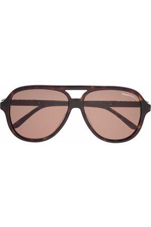 Alexander McQueen Men Sunglasses - Skull-detail round-frame sunglasses