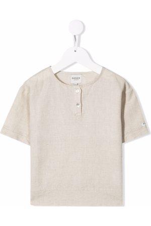 Donsje Button-placket T-shirt - Neutrals
