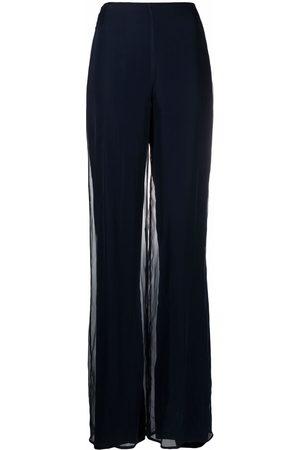 Gianfranco Ferré Women Wide Leg Trousers - 1990s high-waisted wide-leg trousers