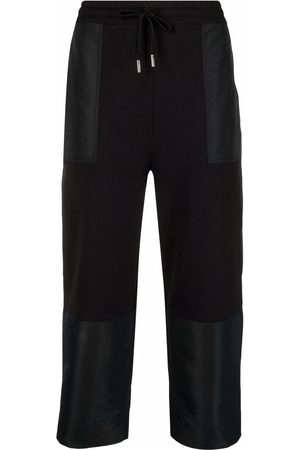 Alexander McQueen Cropped drawstring track trousers