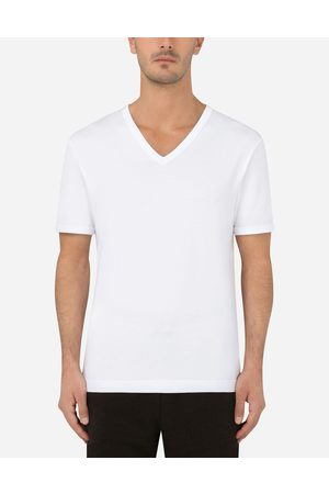 Dolce & Gabbana Men Short Sleeve - T-Shirts and Polos - Cotton t-shirt male 46