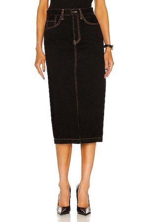 WARDROBE.NYC Denim Midi Skirt in Wash