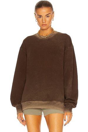 Cotton Citizen Brooklyn Crew Neck Sweatshirt in Espresso