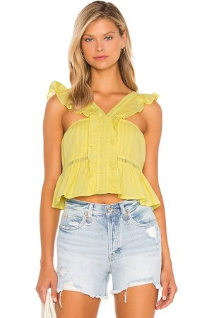 Tularosa Brit Embroidered Top in . Size XXS, XS, S, M.