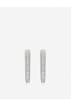 Monica Vinader Alta Capture Huggie -vermeil and diamond earrings