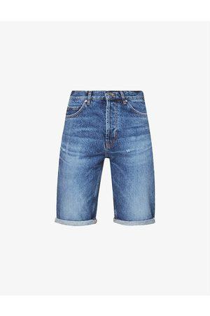 HUGO BOSS Logo-patch regular-fit denim shorts