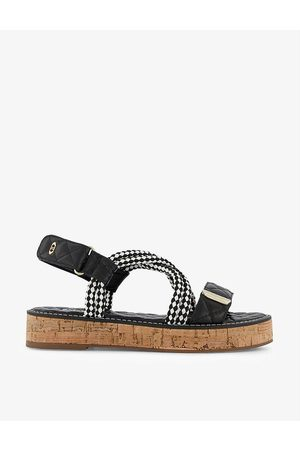 Dune Latina rope and faux-leather flatform sandals