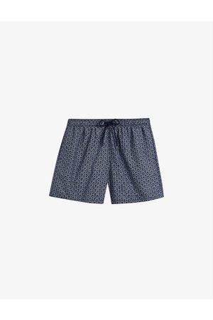Ted Baker Tempt regular-fit brand-print swim shorts