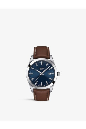 Tissot T127.410.16.041.00 Gentleman leather and stainless steel quartz watch