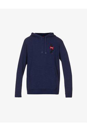 HUGO BOSS Japanese-ideogram cotton-jersey hoody