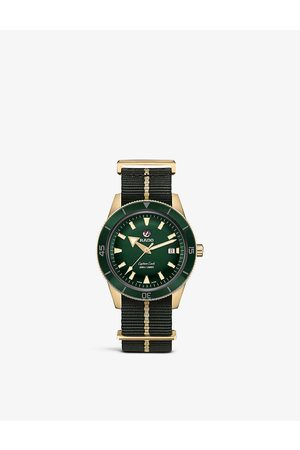 Rado R32504317 Captain Cook bronze and fabric-strap automatic watch