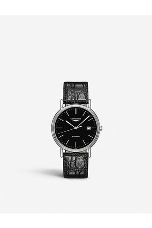 Longines L49214522 Presence stainless steel and leather watch