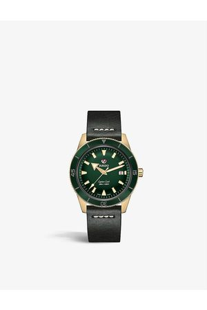 Rado R32504315 Captain Cook Automatic bronze and leather watch