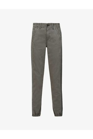 Paige Women Trousers - Mayslie side-stripe tapered mid-rise cotton-blend trousers