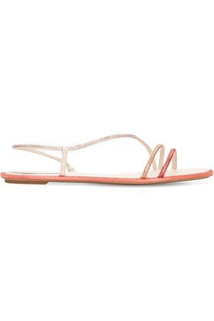 RENÉ CAOVILLA Women Sandals - 10mm Embellished Satin Sandals