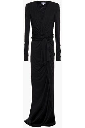 Redemption Woman Wrap-effect Draped Jersey Maxi Dress Size 36