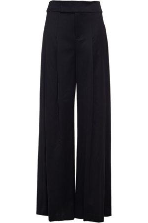 ALICE+OLIVIA Woman Pleated Wool-blend Twill Wide-leg Pants Size 0