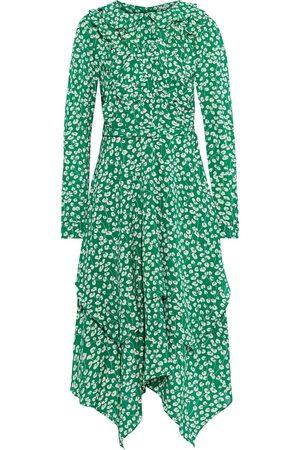 MIKAEL AGHAL Woman Layered Ruffled Floral-print Crepe Midi Dress Size 10