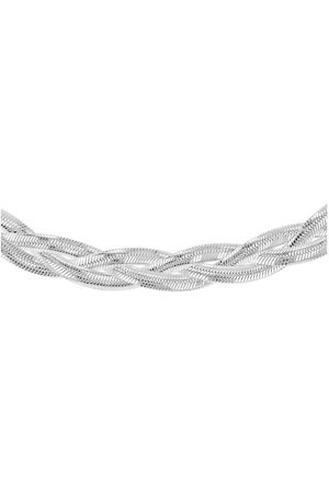 The Love Silver Collection Women Necklaces - Sterling Twined Herringbone Necklace