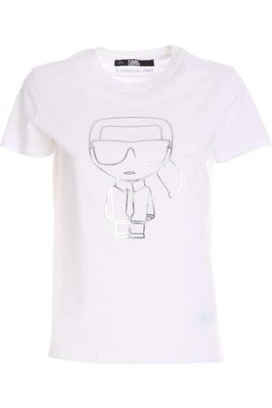 Karl Lagerfeld Women T-shirts - Ikonik Karl Outline Tshirt