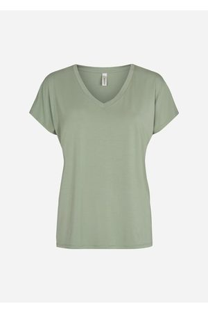 soyaconcept Classic V-Neck Tee in Sage