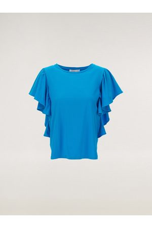 Caractere Tee with ruffle Sleeve G200D09305 in electric