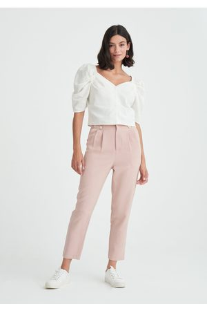 Paisie Sweetheart Puff Sleeve Blouse