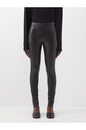 Joseph Women Trousers - High-rise Leather Leggings - Womens