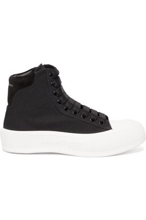Alexander McQueen Panelled High-top Canvas Trainers - Womens
