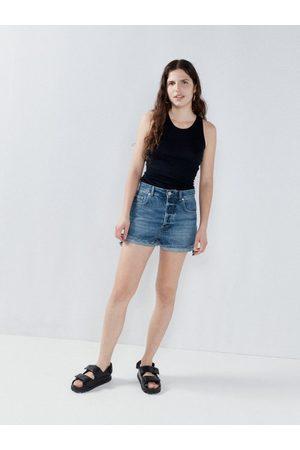 Raey V-neck Silk And Cashmere-blend Ribbed-knit Vest - Womens - Navy