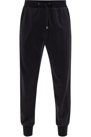 Paul Smith Side-stripe Wool-jersey Track Pants - Mens - Navy