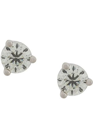 Delfina Delettrez Women Earrings - 18kt white gold Dots Solitare round diamond stud earrings