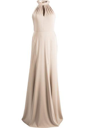 Marchesa Notte Afton halterneck dress - Neutrals