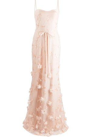 Marchesa Notte Women Printed Dresses - Savona floral-embroidered dress