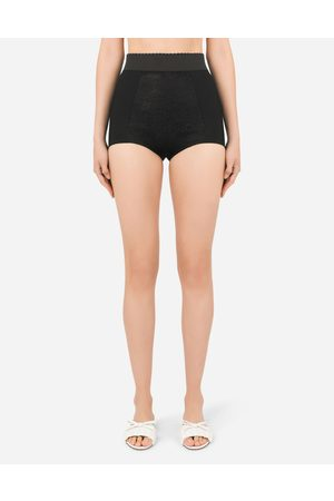 Dolce & Gabbana Women Trousers - Trousers and Shorts - High-waisted shaper panties in jacquard and satin female 36