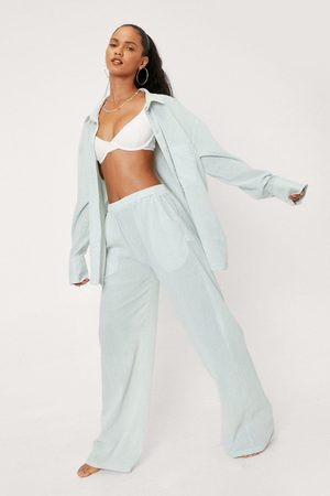 NASTY GAL Womens Wide Leg Cover Up Trousers