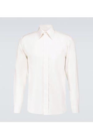 Alexander McQueen Men Long sleeves - Cotton long-sleeved shirt