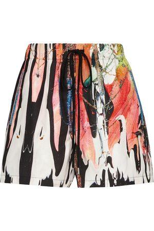 Christopher Kane Mindscape printed cotton shorts