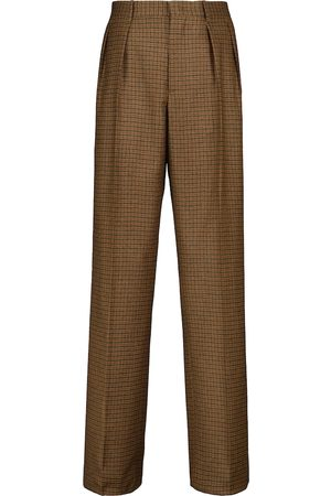 Etro Checked stretch-wool straight pants