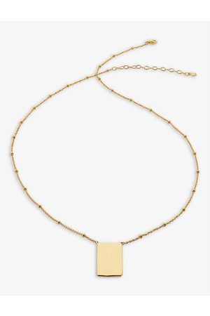 Monica Vinader Siren Muse ID recycled 18ct yellow -plated vermeil on sterling silver necklace