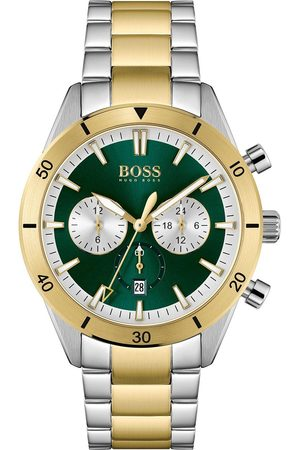HUGO BOSS Men Watches - Santiago Multi Dial Stainless Steel With Gold Tone Link Bracelet Watch