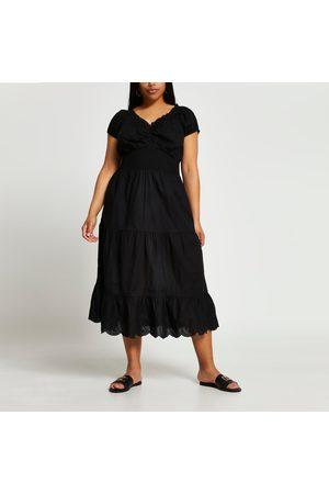 River Island Women Beachwear - Womens Plus tiered midaxi cover up dress