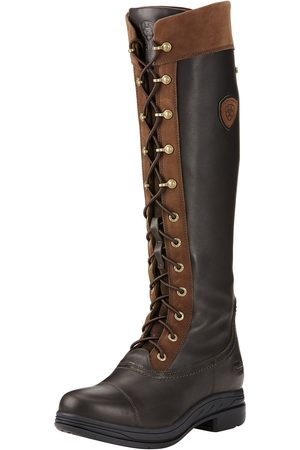 Ariat Women High Leg Boots - Women's Coniston Pro GORE-TEX Insulated Boots in Ebony Cotton