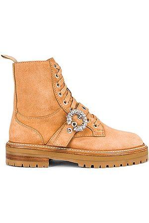 Jimmy Choo Cora Boot in Caramel & Crystal
