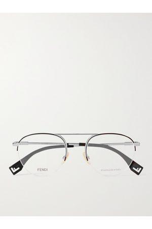 Fendi Round-Frame -Tone Optical Glasses