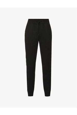 HUGO BOSS Branded-trim stretch-cotton jogging bottoms